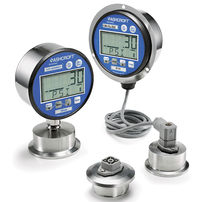 Electronic pressure gauge / digital / sanitary / IP65