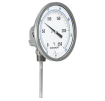 Adjustable dial thermometer / bimetallic / insertion / stainless steel
