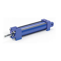 Tie-rod cylinder / pneumatic / hydraulic / double-acting