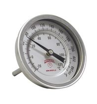 Bimetallic thermometer / analog / insertion / dial