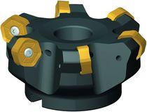 Face milling cutter / 2-flute / insert