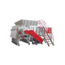 Single-shaft shredder / wood / plastic / cardboard