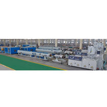 Tube extrusion line / for HDPE / for PP / compact