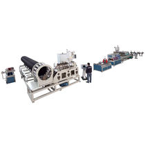 Tube extrusion line / for thermoplastics