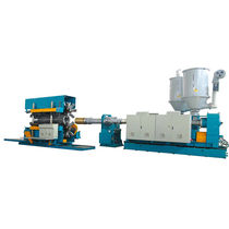 Tube extrusion line / for PVC / for HDPE / for PP