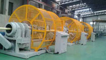 Tube extrusion line / for PE / 3-layer