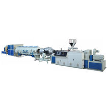 Tube extrusion line / for PVC