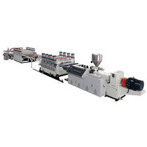 Coating extrusion line / for WPC / for PVC