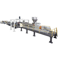 Plastics recycling extrusion line / for PET