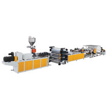 Sheet extrusion line / for PVC