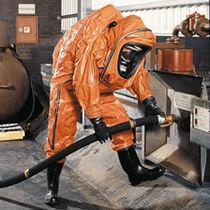 Fire-retardant coveralls / chemical protection / polyethylene / butyl rubber