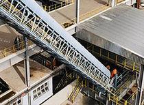 Flexible conveyor belt / rubber / for underground mining / abrasion-resistant