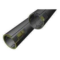 Flexible conveyor belt / tubular / fabric / high-resistance