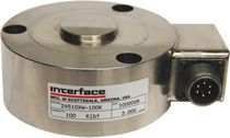 Compression load cell / button type / stainless steel / small