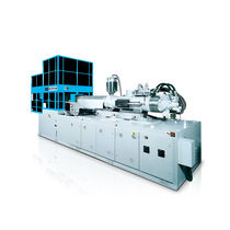 Vertical injection molding machine / hydraulic / for bottle pre-form manufacturing