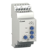 Under-voltage monitoring relay / over-voltage / DIN rail / three-phase