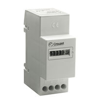 Hour counter / analog / electromechanical / DIN rail
