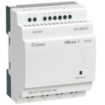 DIN rail PLC / analog inputs / with expandable I/O card