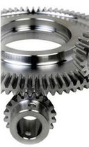 Straight-toothed sprocket wheel / conical