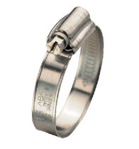 Stainless steel hose clamp / worm-drive / embossed band