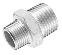 Hydraulic adapter / reducing / threaded / stainless steel