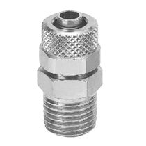 Compression fitting / straight / brass / nickel-plated brass