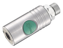 Push-to-lock fitting / pneumatic / straight / stainless steel
