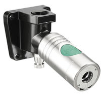 Push-to-lock fitting / straight / pneumatic / stainless