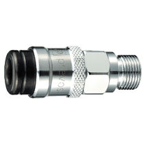 Screw-in fitting / straight / pneumatic / chrome-plated brass