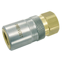 Quick coupling / straight / hydraulic / chrome