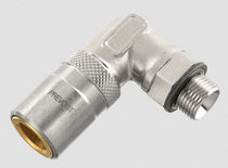 Threaded fitting / 90° angle / hydraulic / chrome
