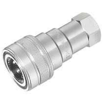 Push-to-lock fitting / straight / hydraulic / zinc-plated steel
