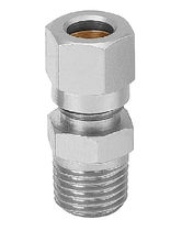 Threaded fitting / straight / pneumatic / hydraulic