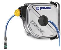 Compressed air hose reel / self-retracting / enclosed / stainless steel