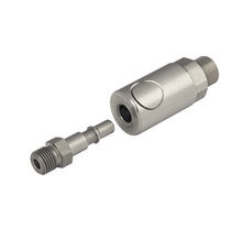 Quick coupling / straight / pneumatic / stainless steel
