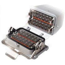 Hybrid connector / rectangular / locking / modular
