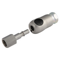 Quick coupling / straight / for compressed air / stainless steel