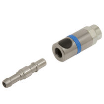 Quick coupling / straight / for compressed air / security