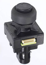 Mushroom push-button switch / single-pole / two-stage / electromechanical
