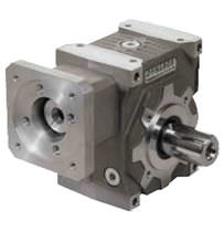 Worm servo-gearbox / right-angle