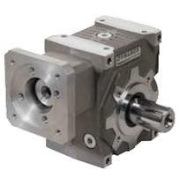 Worm servo-gearbox / orthogonal / transmission