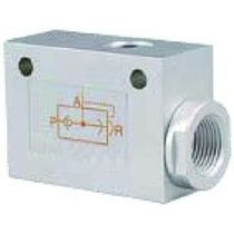 Pneumatic valve / for air / straight / unidirectional