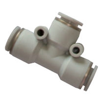 Quick coupling / T / pneumatic / plastic