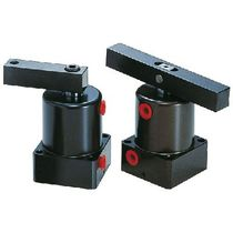 Pneumatic cylinder / double-acting / threaded body / swiveling flange