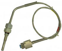 Thermocouple temperature sensor / for exhaust gas