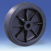 Monobloc wheel / rubber / polypropylene / for waste containers