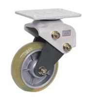 Swivel caster / base plate / shock absorbing / steel
