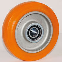Wheel with solid tire / polyurethane / handling / low-noise