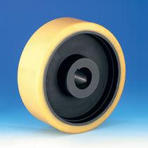 Wheel with solid tire / polyurethane / nylon / polyamide
