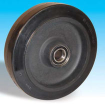 Wheel with solid tire / rubber / cast iron / for trolleys